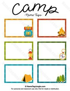 236x305 Free Printable Camp Name Tags. The Template Can Also Be Used