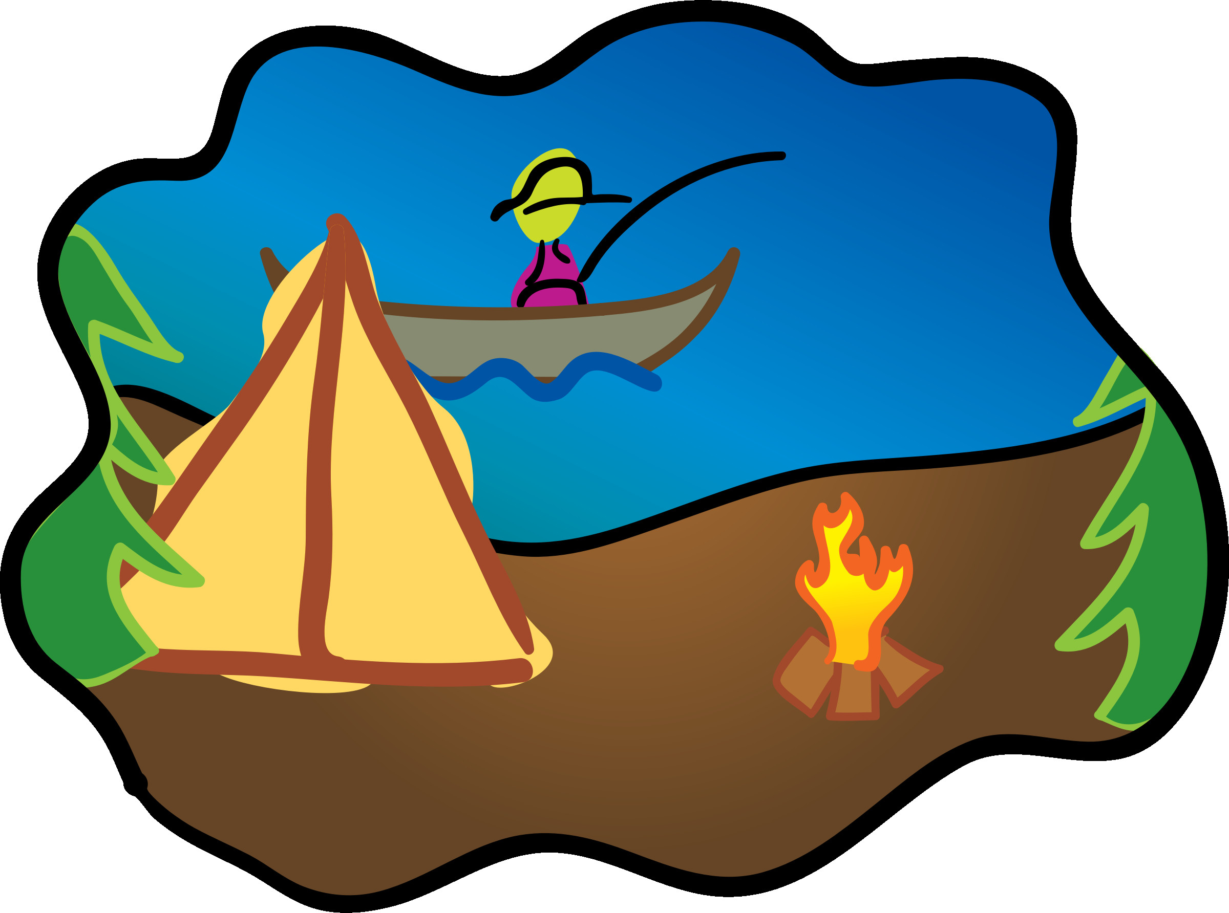 2400x1784 Royalty Free Images Camping Clip Art Set Clipart Also Png