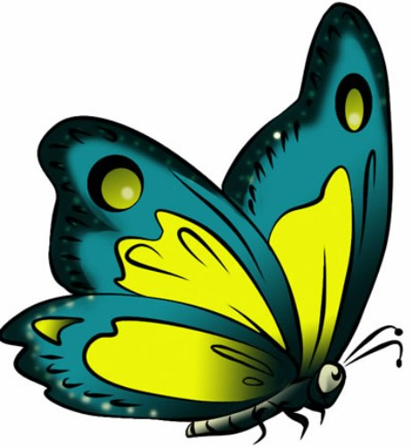 461x500 Free Child's Clipart Butterfly