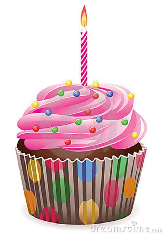 630x900 Birthday Cupcake Clipart