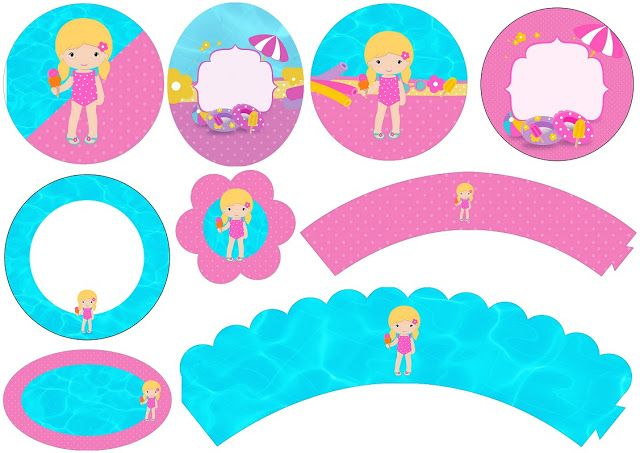 640x453 Blondie Girl Pool Party Free Printable Wrappers And Toppers