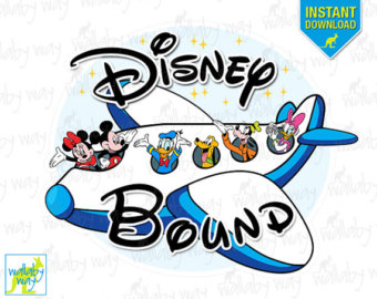 340x270 I'M Going To Disney World Mickey Airplane Printable Iron