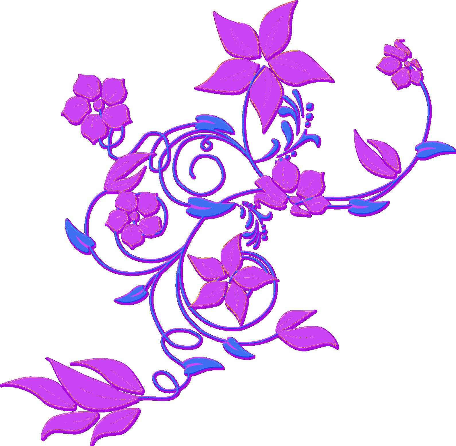 1589x1556 Free Printable Clip Art Borders Digital Flower Frame Png