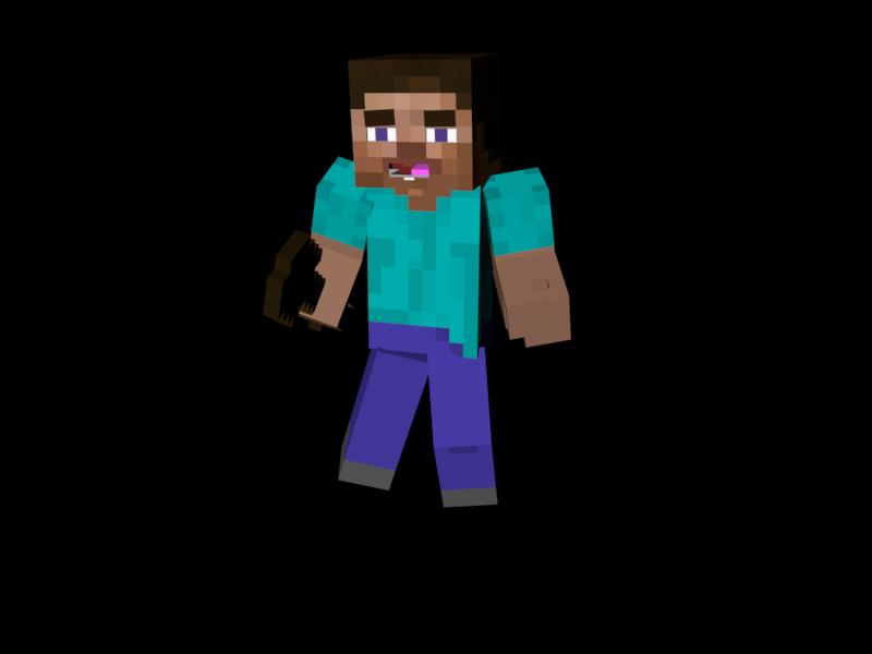800x600 Minecraft Steve Clipart