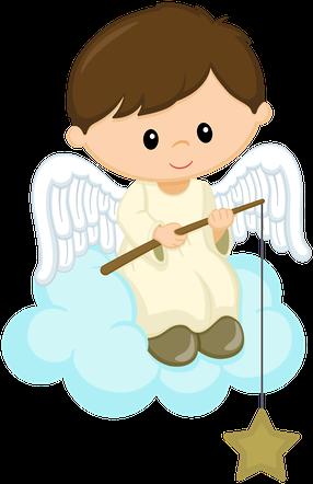 286x442 Angelito Sobre Nube Primera Angel, Clip