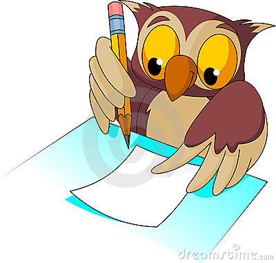 400x380 Owl Clipart Writing Writing Clipart