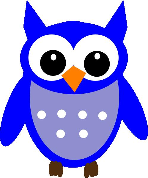 498x599 Owl Clipart Blue Owl