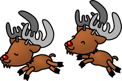 400x266 Free Christmas Reindeers Clipart Graphics And Images