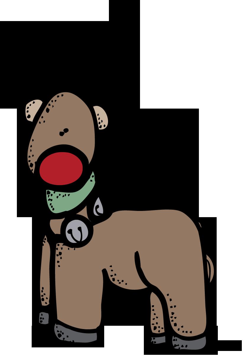 821x1200 Reindeer Clipart Clipartpen