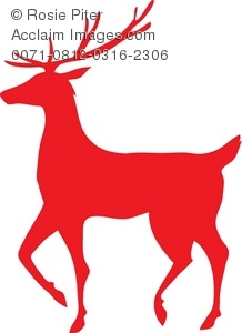 218x300 Silhouette Of A Reindeer Royalty Free (Rf) Clip Art Picture
