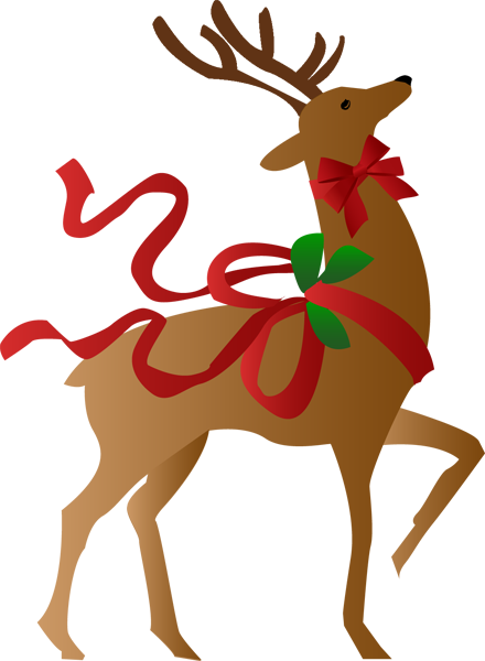 440x600 Free Christmas Reindeer Clipart A Christmas Reindeer Clip Art