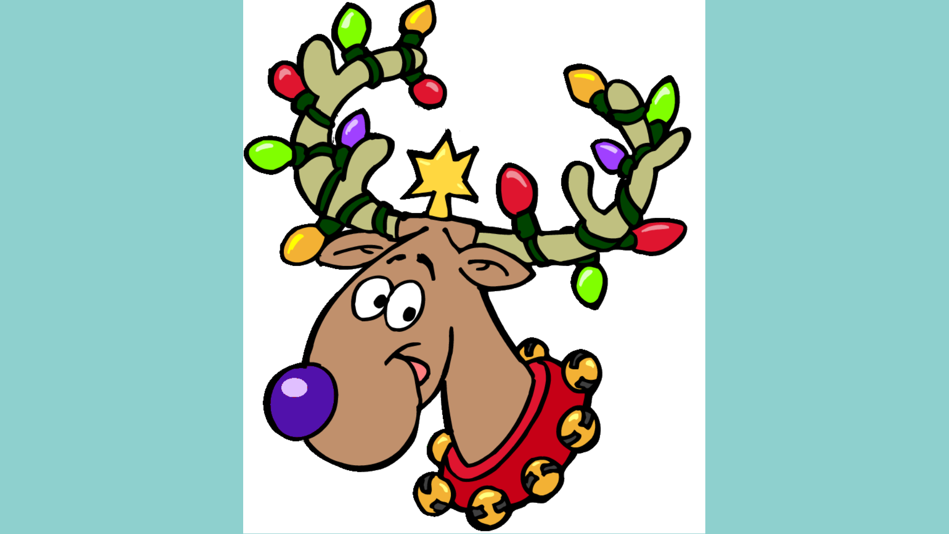 1920x1080 Christmas Reindeer Clipart Group