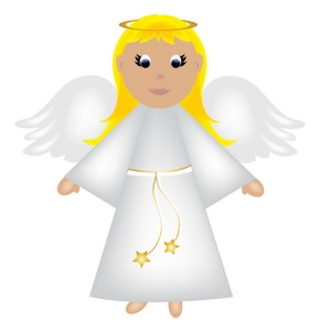300x300 Christmas Angel Clip Art