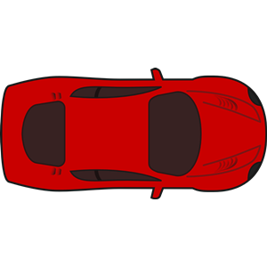 300x300 Red Racing Car Top View Clipart, Cliparts Of Red Racing Car Top