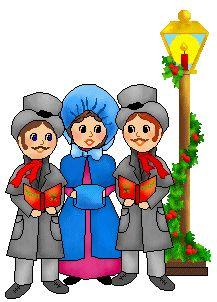 217x302 People Singing Christmas Carols Clipart