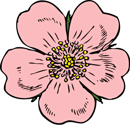 440x420 Free Rose Clipart
