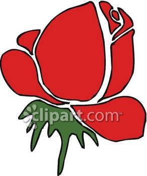 293x350 Royalty Free Clip Art Image Rose Clipart