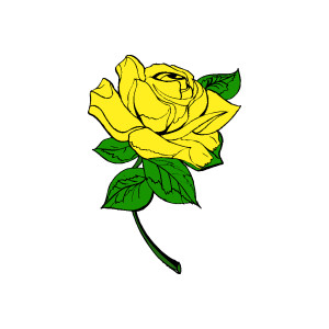 300x300 Yellow Rose Clipart Yellow Rose Clip Art Free Yellow Rose Clipart