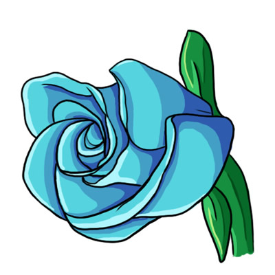 400x400 Free Blue Rose Clip Art 1 Clipart Panda
