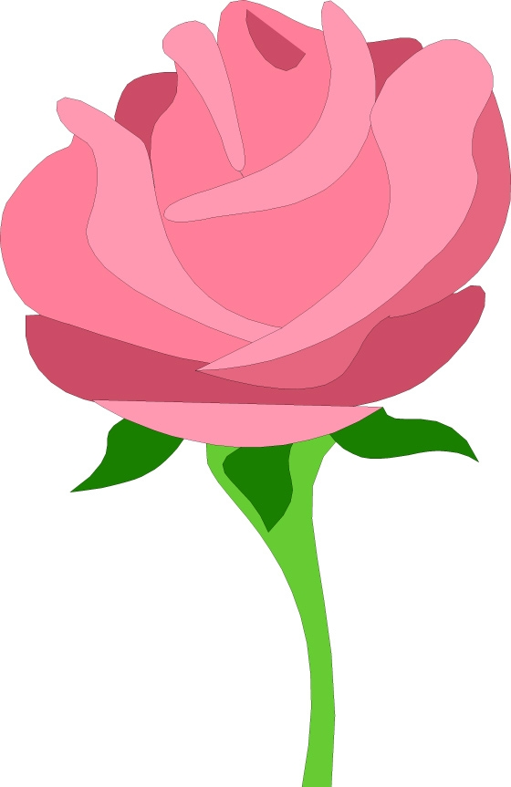 560x863 Free Pink Flower Clip Art Clipart Free Pink Rose Clipart