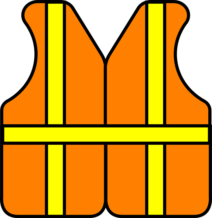 698x720 Free Safety Clipart Safety Construction Vest Free Vector Graphic