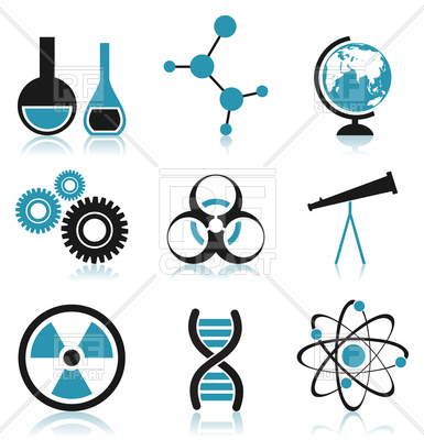 385x400 Icons Of Science Theme Royalty Free Vector Clip Art Image