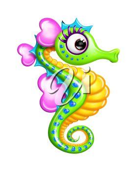 Free Seahorse Clipart