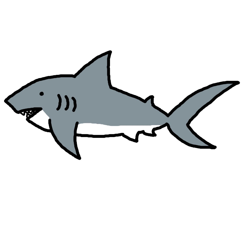 1500x1500 Ocean Clipart Sea Animals Nautical Simple Clip Art Shark
