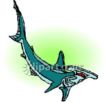 350x333 Royalty Free Clip Art Image Clip Art Image Of A Hammerhead Shark