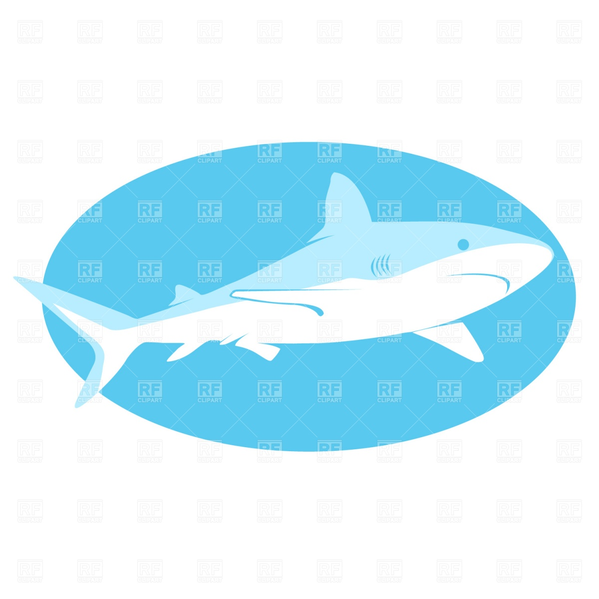1200x1200 Shark Royalty Free Vector Clip Art Image