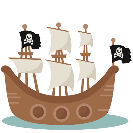 432x432 Pirate Ship Svg Scrapbook Cut File Cute Clipart Clip Art Files