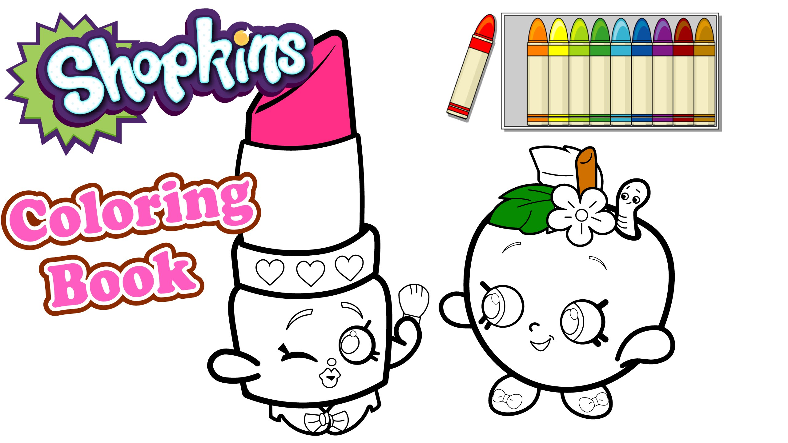 2560x1440 Shopkins Lipstick Coloring Pages Free Coloring Library