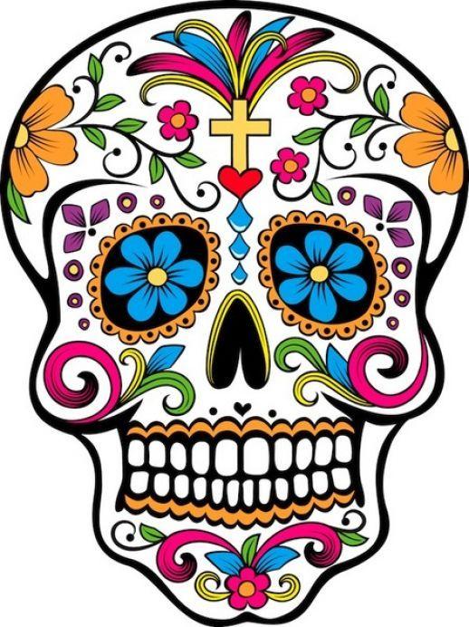 518x692 Sugar Skull Clipart Halloween Sugar Skulls
