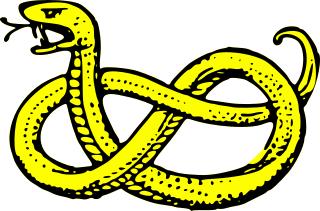 320x211 Free Heraldic Snake Clipart