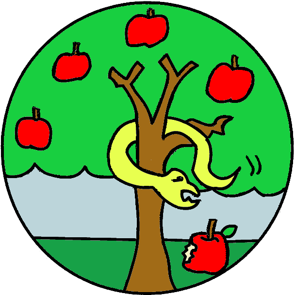 608x608 Collection Of Apple And Snake Clipart High Quality, Free