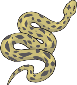 267x297 Slithering Yellow Snake Clip Art