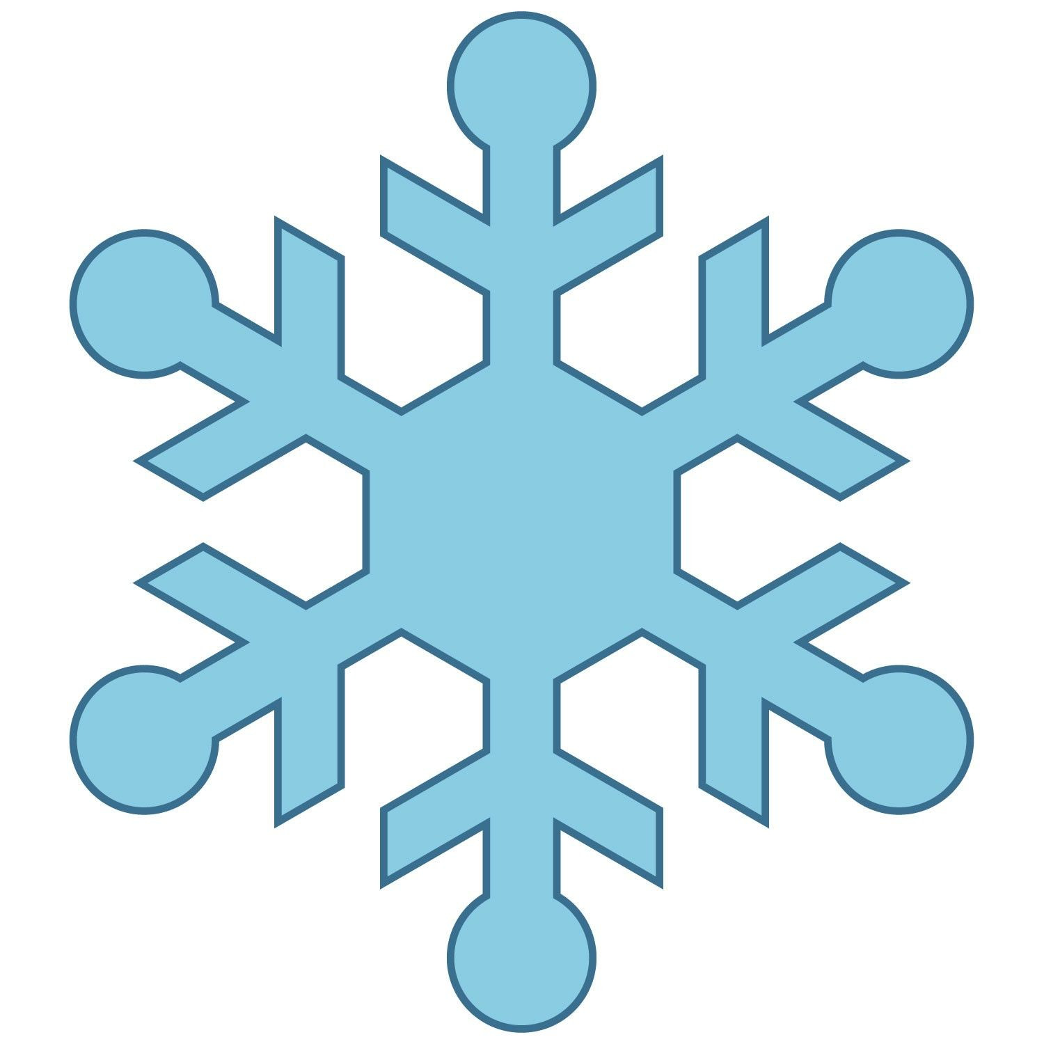 1500x1500 Free Snowflake Outline Download Clip Art On Fine Clipart