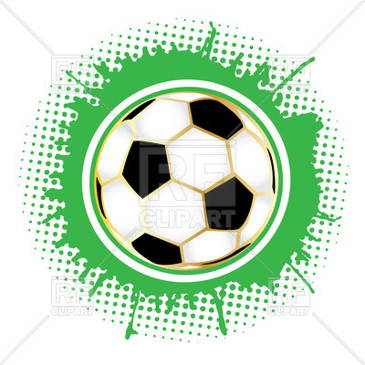 400x400 Soccer Ball With Dotted Decorations Royalty Free Vector Clip Art