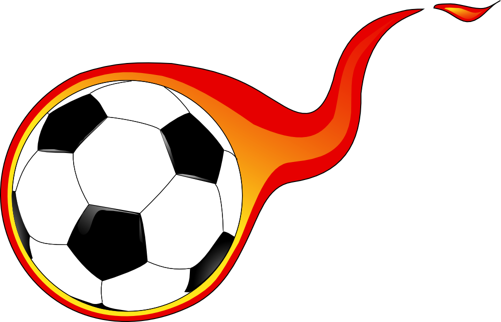 1000x644 Flaming Soccer Ball Clip Art