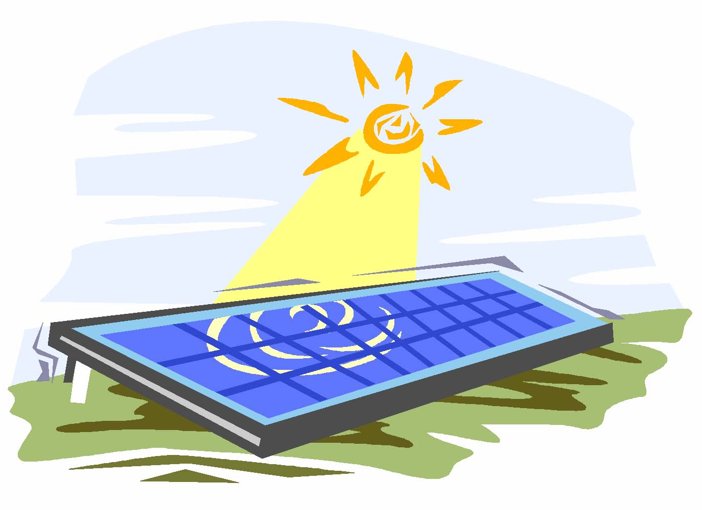 1376x1001 Solar Power Clipart