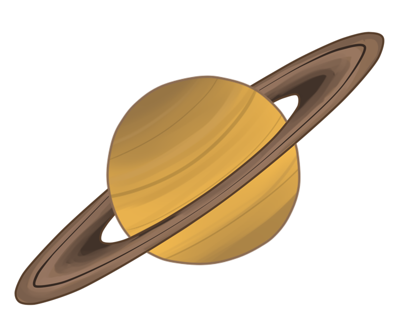 800x665 Space Clipart Saturn Planet