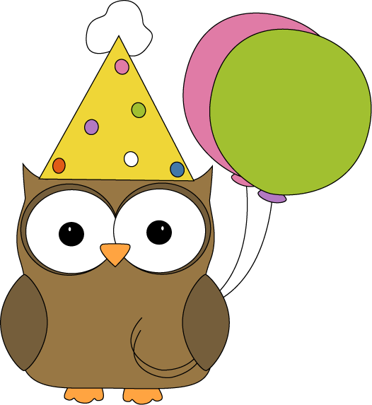 526x573 Birthday Owl Clipart