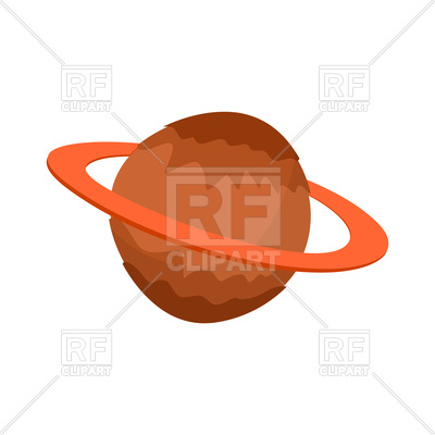 400x400 Cartoon Saturn, Planet Of Solar System On White Background Royalty