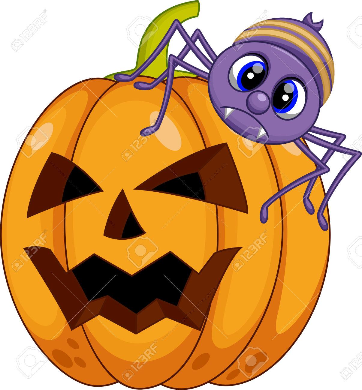 1206x1300 Pumpkin Spider Clipart