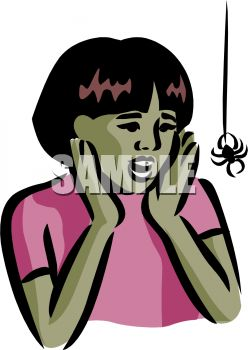 248x350 African American Girl Afraid Of A Spider