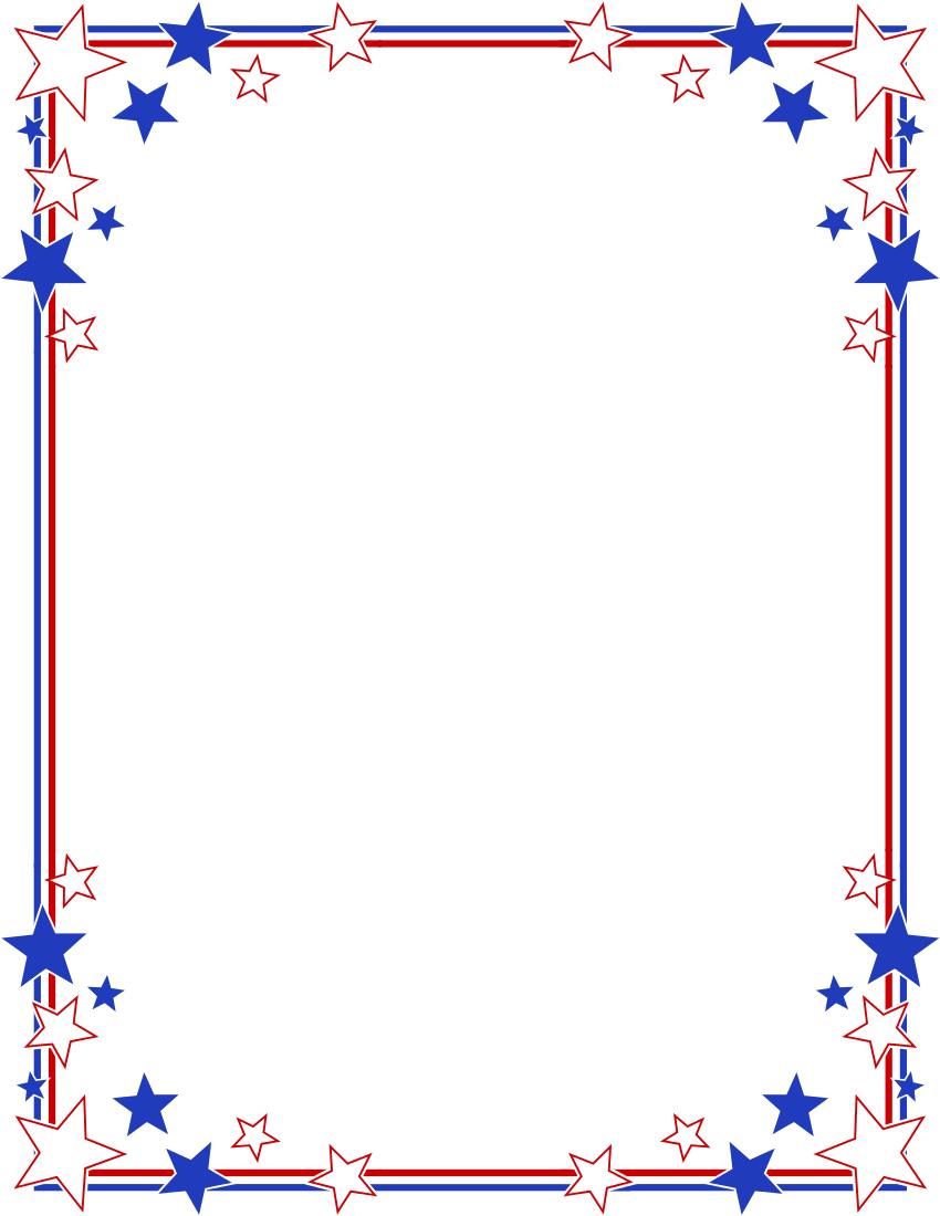850x1100 Free Stars Clipart Border Image