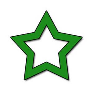 300x300 Free Green Star Clipart