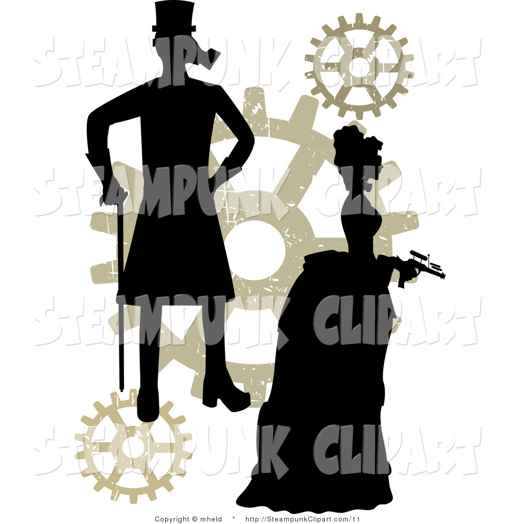 1024x1044 Vector Clip Art Of A Steampunk Guy And Gal With Gears By Mheld