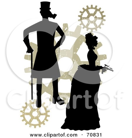 450x470 Clipart Steampunk Man And Gears