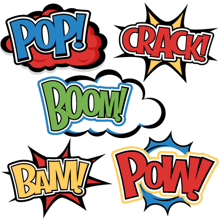 432x432 Superhero Words Svg Cutting Files For Scrapbooking Superhero